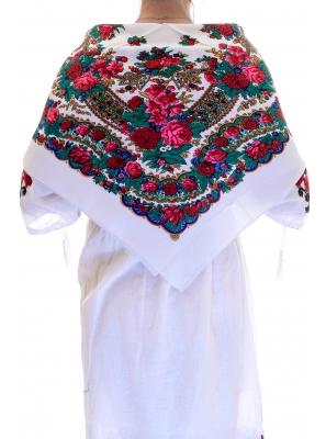 Batic traditional Anastasia alb