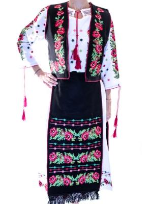 Costum traditional set  cu motive florale
