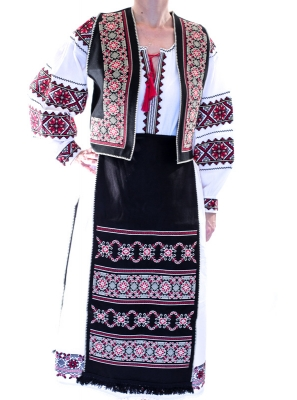 Costum traditional set  cu motive geometrice