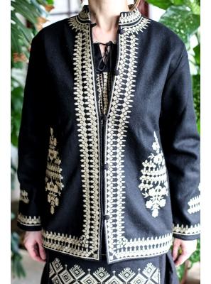 Sacou brodat traditional Anastasia