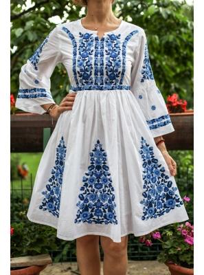 Rochie Traditionala cu Flori2