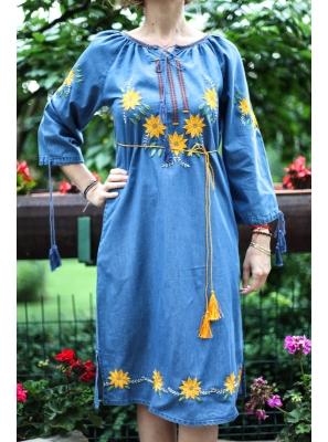Rochie din denim deschis Sorana