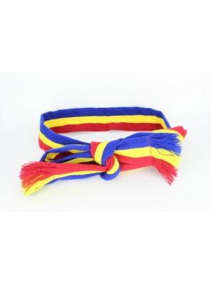 Brau popular tricolor tesut la razboi/6 cm