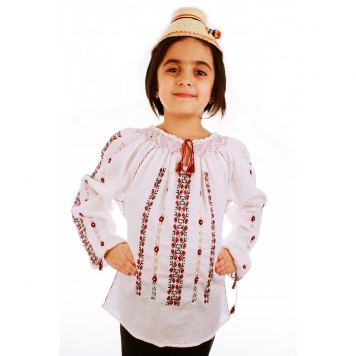 Ie romaneasca copii brodata manual Sanziana