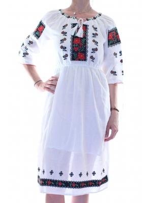 Rochie cu motive traditionale Ileana